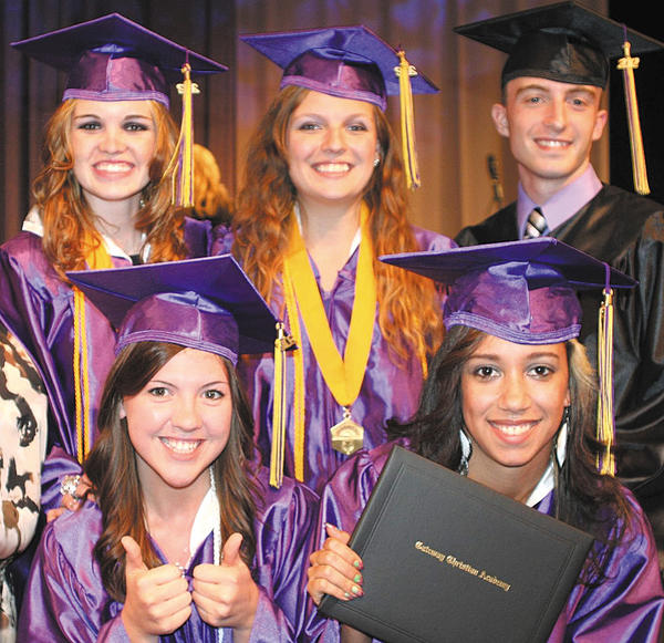 Bottom row, from left, Andrea Abernethy and Cierra Johnson. Top row, Victoria Hines, Devan Vanorsdale and Russell Herman.