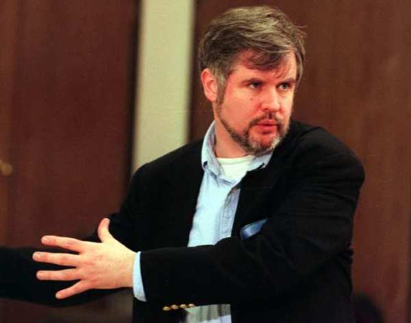 Playwright Christopher Durang, at South Coast Repertory in 1996. The writer has won an award from the PEN American Center.
