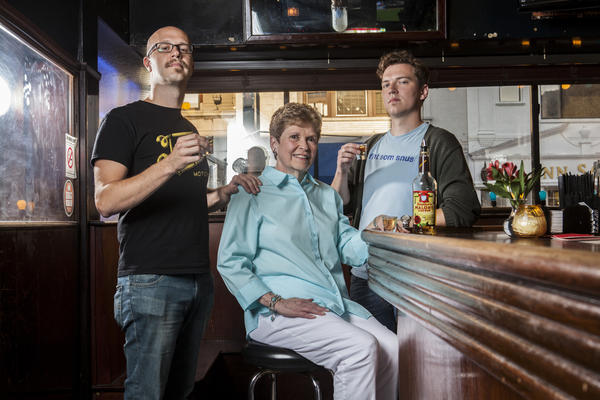 (L to R) Sam Mechling, Pat Gabelick and Peter Strom are the brains behind the latest marketing push for Jeppson's Malort.