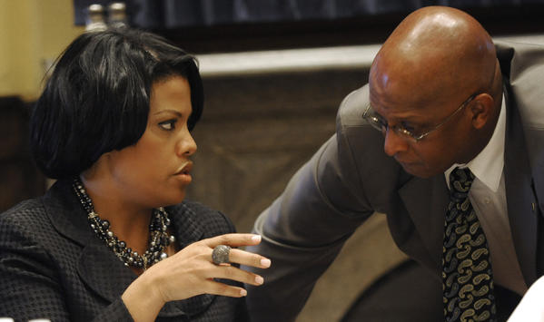 Mayor Stephanie Rawlings-Blake is pictured with City Council President Jack Young.