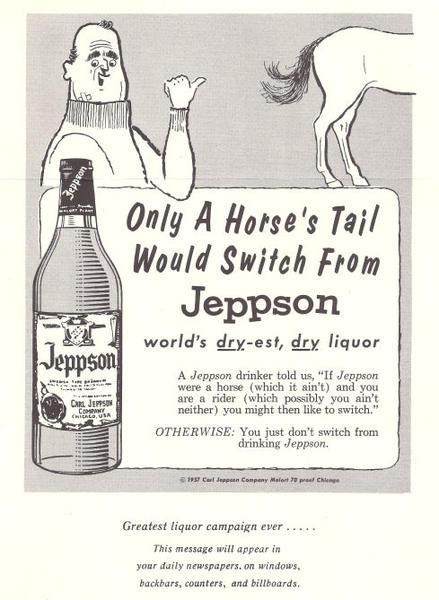 Vintage Jeppson's Malort ad