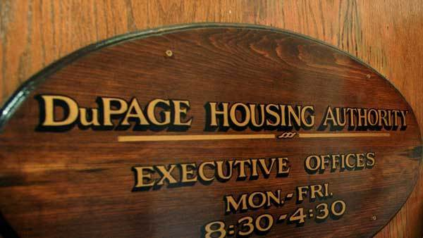 Sign for the DuPage Housing Authority
