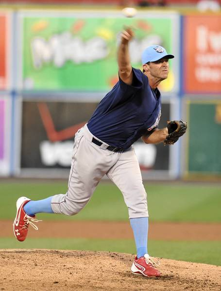 IronPigs pitcher Scott Elarton picked up his first win since May by holding the Yankees to two runs over five innings.