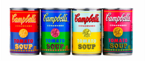 "Campbell's is launching a limited edition of Andy Warhol-themed tomato soup. The new line of cans is in honor of the 50th anniversary of the artist's 1962 ""32 Campbell's Soup Cans."""