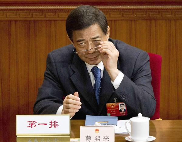 Bo Xilai, then Chongqing party secretary, attends a March plenary session of the National People's Congress at the Great Hall of the People in Beijing.