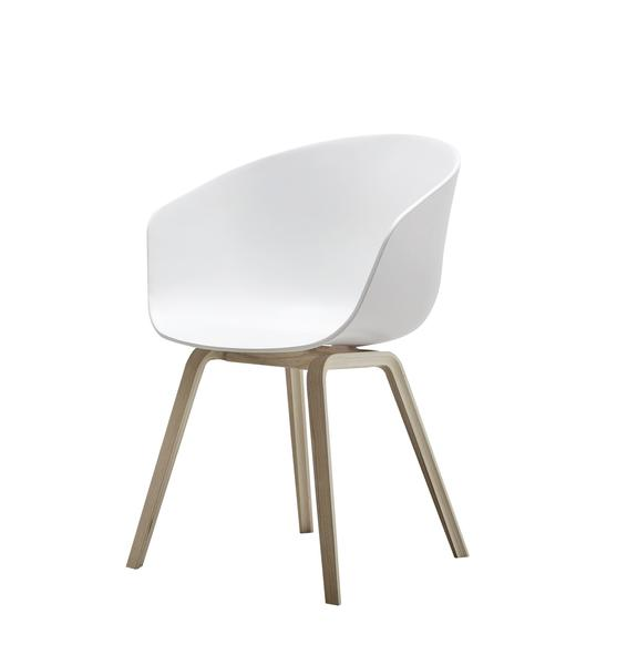 "About a Chair ($295) by the Danish firm Hay bears a passing resemblance to the iconic molded plastic side chair that Charles and Ray Eames designed for Herman Miller. <a href=""http://www.aplusrstore.com/product.php?id=983"">About a Chair</a> has a birch veneer base (also available in black) and  a polypropylene seat that comes in black, gray, mustard, coral, red or blue."