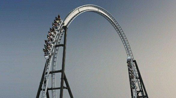 The Full Throttle launched coaster at Six Flags Magic Mountain.