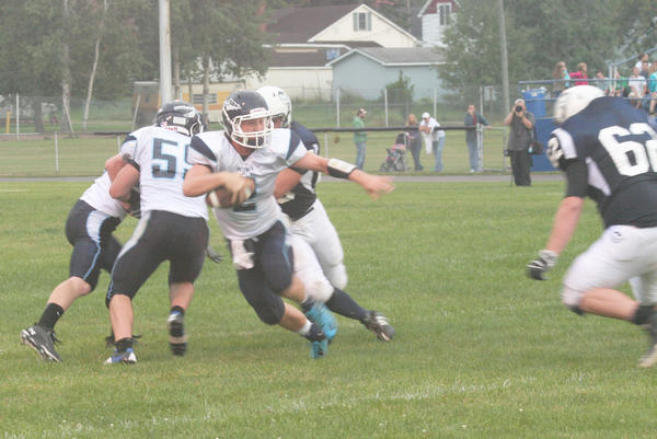 Petoskey senior quarterback Quinn Ameel finished with a combined 125 yards of rushing and passing last week as the Northmen opened the season with a 21-0 victory at Sault Ste. Marie.