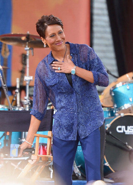 GMA Co-Host Robin Roberts addresses the audience on ABC's 'Good Morning America' at Rumsey Playfield, Central Park on July 13, 2012 in New York City.