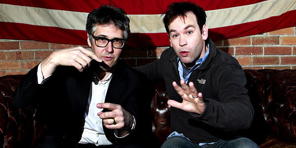 "Host and exectutive producer of ""This American Life,"" Ira Glass, left, produced comedian Mike Birbiglia's ""Sleepwalk With Me."""