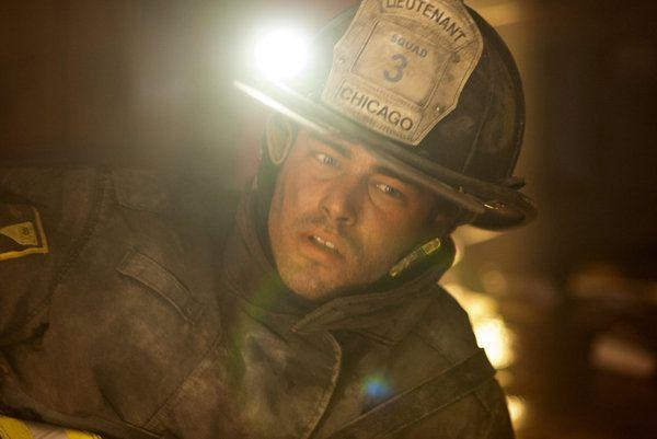 "Taylor Kinney in the firefighter drama ""Chicago Fire."""