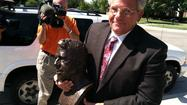 Stolen statute returned to Wichita State 25 years later