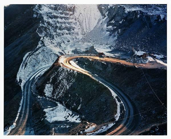 "A 1990 image from Naoya Hatakeyama's ""Lime Hills"" series."