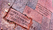 (CNN) -- A brick bearing Jerry Sandusky's name and that of his Second Mile charity has been removed from a walkway in downtown State College, Pennsylvania.