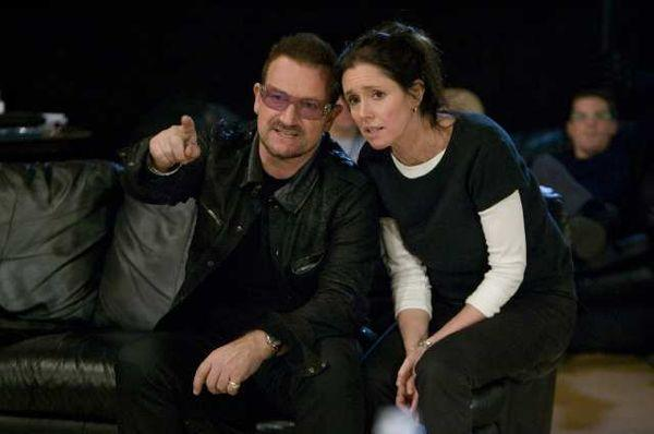 "Julie Taymor, with U2's Bono, the co-songwriter of ""Spider-Man,"" in 2010."