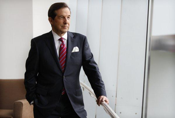 Chris Wallace, Host of Fox News Sunday, gets ready for his day at the Tampa Bay Times Forum before the start of the Republican National Convention on Aug. 28, 2012.