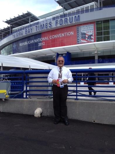 Frank Ricchiazzi of Laguna Beach is in Tampa, Fla. as an alternate delegate at the Republican National Convention.