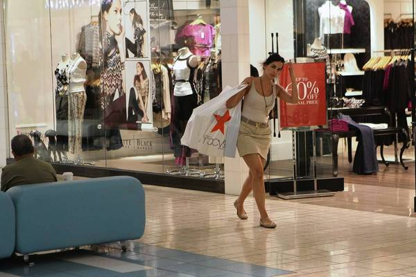 Retailers, anticipating an anemic appetite for school-related shopping, heavily focused on advertising promotions to increase traffic in August. Above, a shopper at the Beverly Center.