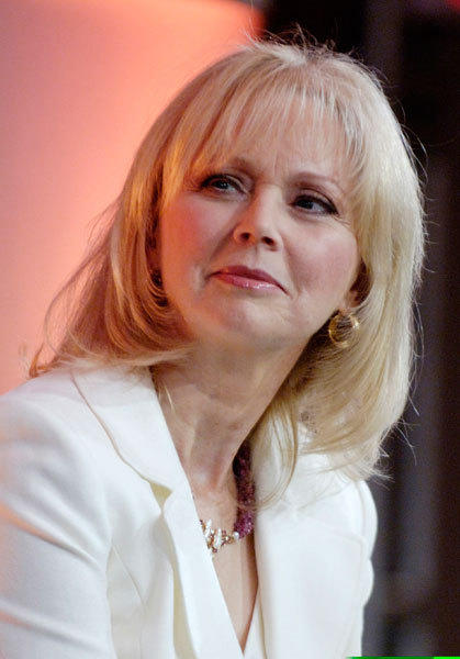 "Shelley Long, a cast member in the Hallmark Channel original film ""Falling in Love with the Girl Next Door,"" participates in a panel discussion at the Television Critics Association press tour in Pasadena, California, January 12, 2006."