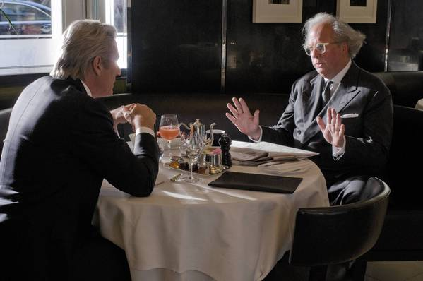 "Richard Gere, left, and Graydon Carter in ""Arbitrage."""