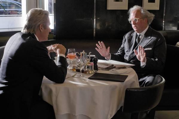 "Richard Gere, left, and Graydon Carter in ""Arbitrage."""