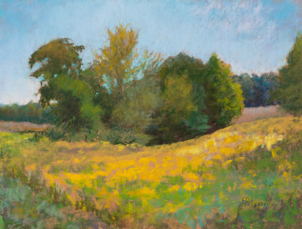 "Plein air work titled ""Summer's End"" by Candace Peterson of Hessel."