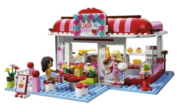 The City Park Cafe set from Lego Friends, the new product line that helped boost Lego's earnings.