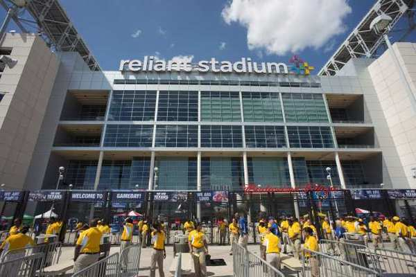 Outside Reliant Stadium before Thursday's NFL preseason game between the Houston Texans and Minnesota Vikings.