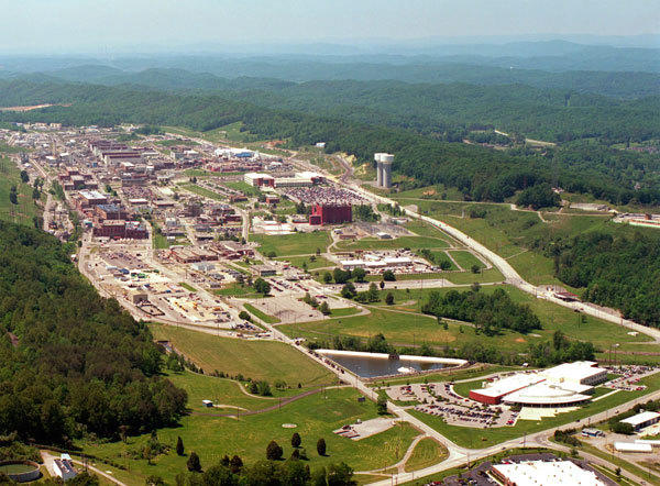 An aerial view of the Y-12 Plant in Oak Ridge, Tennessee is pictured in this U.S. government handout photo.