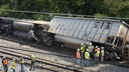 Four callers sounded stunned as they told dispatchers that a train had just derailed in downtown Ellicott City, but none reported seeing anyone near the Aug. 20 wreck that killed two 19-year-olds, according to 911 recordings released Friday by Howard County officials.
