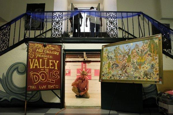 Skeith De Wine's Smallest Art Gallery in California is tucked under the stairwell in the Santora Arts Complex basement.