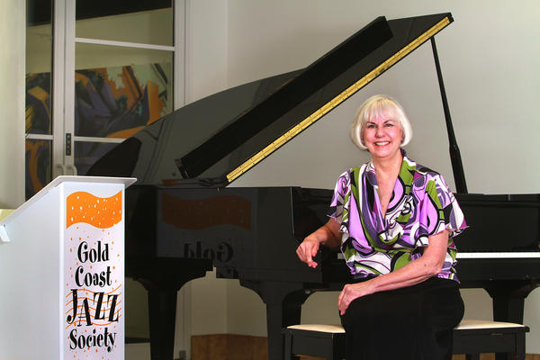 Pam Dearden Executive Director of the Gold Coast Jazz Society at the organizations office headquarters inside ArtServe