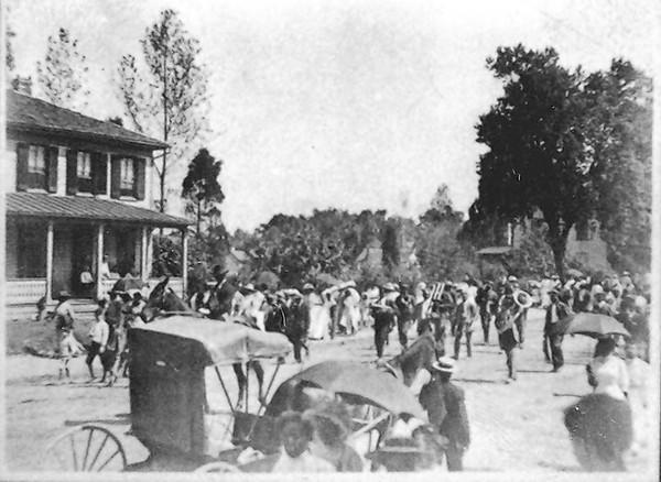 Emancipation Day is Laurel's oldest yearly celebration, dating back more than 100 years. This photo shows Emancipation Day in 1910.