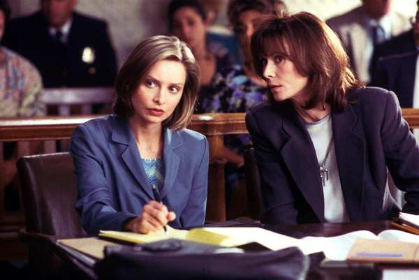 "Calista Flockhart, left, as the star of ""Ally McBeal,"" with Kate Jackson."