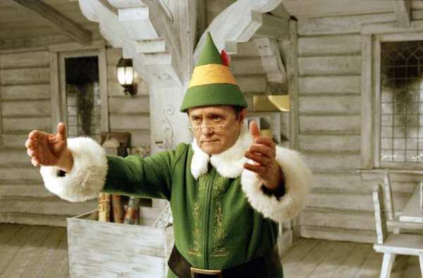 "Bob Newhart as Papa Elf in the 2003 movie ""Elf."""
