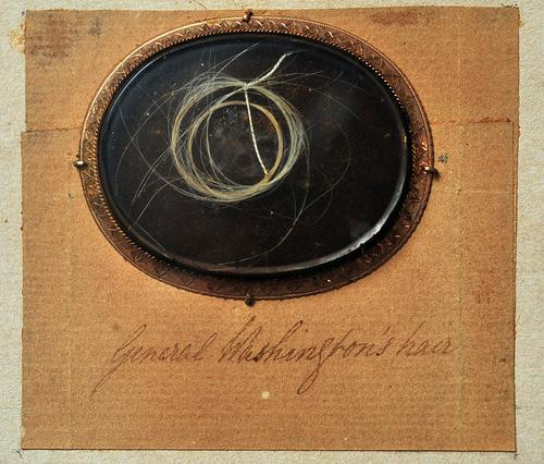 A lock of General George Washington's hair, which was snipped during his July, 1782 visit to Bethlehem, is currently kept at the Moravian Historical Society inside the Whitefield House in Nazareth. During the visit, Washington allowed a Moravian woman named Anna Gambold, to keep a lock of his hair.