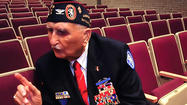 Highly decorated World War II veteran and best-selling author Col. Glenn Frazier was on a mission of sorts Friday when he stopped by Greencastle-Antrim High School.