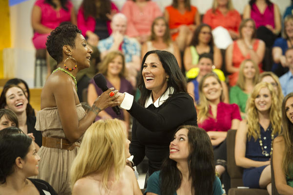 Ricki Lake on the set of her new talk show, which premieres Sept. 10.