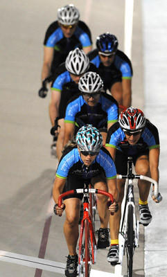 Team Valley Preferred 2 heads down the track Friday evening in the Corporate Challenge. The 2012 World Series of Bicycling held Friday night.