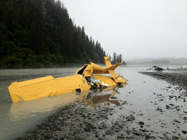 Alaska State Troopers say George Vonderheide, 66, of Girdwood died Friday when his floatplane crashed in shallow water on the east side of the Wosnesenski River near Homer. He was believed to be the only person on board the aircraft.