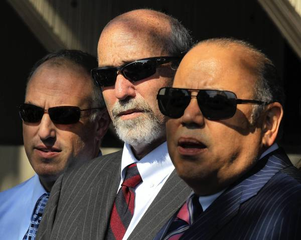 """Both sides know that the stakes are high,"" said defense attorney Joseph Lopez, right, seen with colleagues Steven Greenberg, left, and Joel Brodsky. ""I expect the prosecution to have a great closing, and I'm going to give it everything I've got too."""