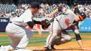 Orioles blow three-run lead and lose to Yankees, 4-3, to fall back in AL East race