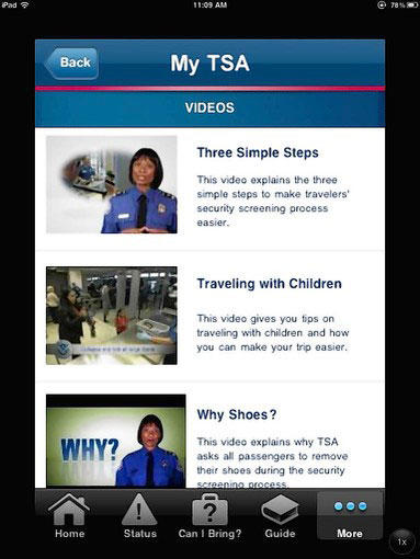 My TSA is a free app from iOS devices