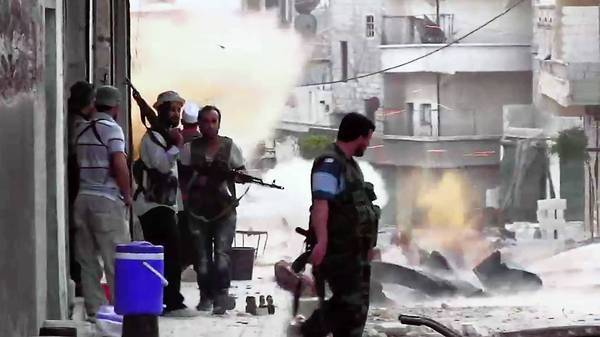 Syrian rebels take position in Aleppo this week during clashes with government forces.