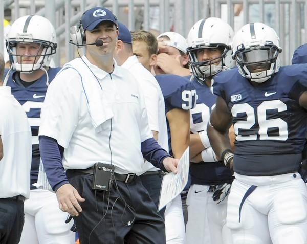 Penn State Nittany Lions head coach Bill O'Brien watches from the sidelines against the Ohio Bobcats at Beaver Stadium in University Park on Saturday.