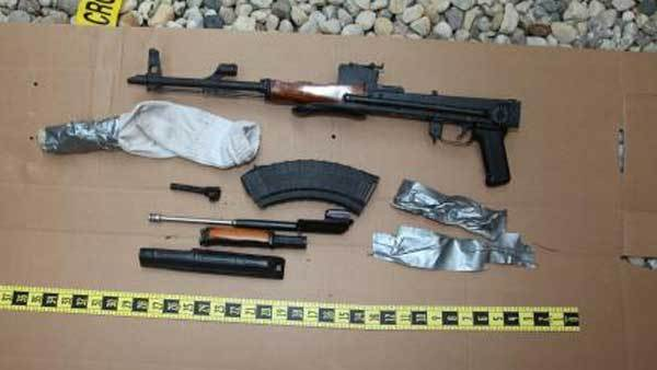 An AK-47-style weapon seized near Des Plaines.