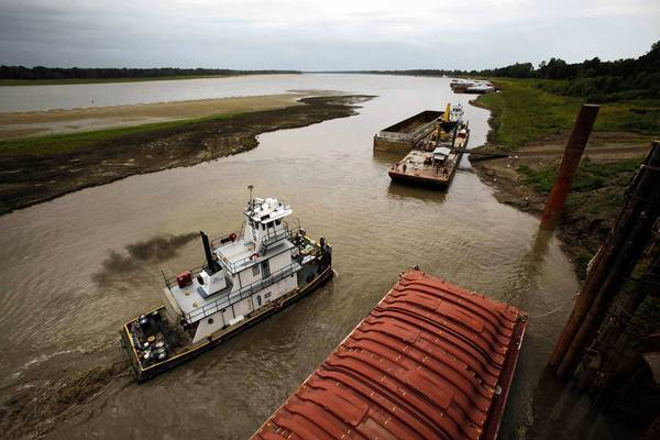 Drought has caused low flows in the Mississippi River, slowing vital barge traffic to a crawl.