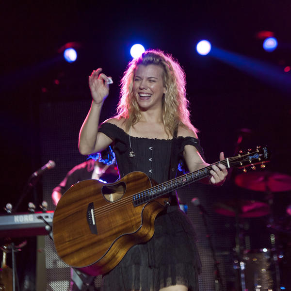 Kimberly Perry performs at the Maryland State Fairgrounds before rain forced the cancellation of the show.
