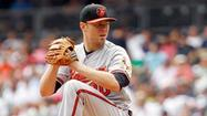 Orioles right-hander Chris Tillman left Sunday afternoon's series finale against the Yankees after three innings with tightness in his right elbow.