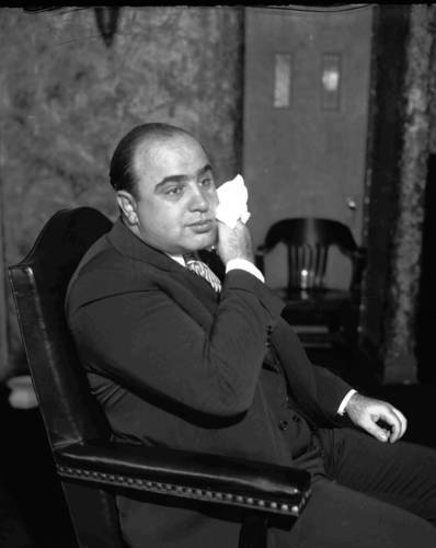 Al Capone in court, October 1931.